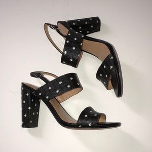 Banana republic polka dot block women's heel